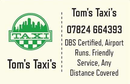 Tom's Taxi's, Bourne