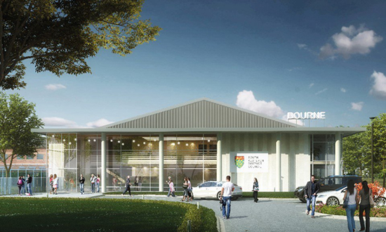 Plans for the new look Bourne Leisure Centre