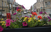 One of the many flower displays in Bourne as part of Bourne in Bloom during the summer months.
