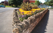 An example of a flower display in Coggles Causeway as part of Bourne in Bloom.
