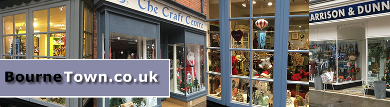 Shops with Christmas Displays in Bourne