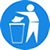Put litter in bin symbol