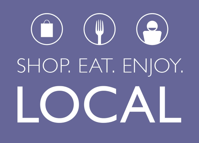 Shop, eat, buy local