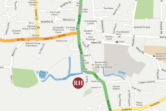 The Red Hall Location Map, Bourne